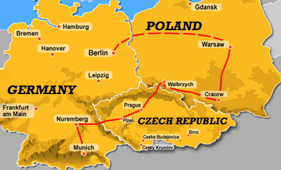 Map Of Germany Poland And Czech Republic smartpersoneelsdossier