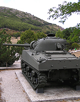 Sherman in Mignano Pass, Italy